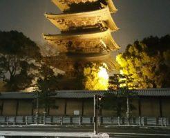 東寺,五重塔,雪
