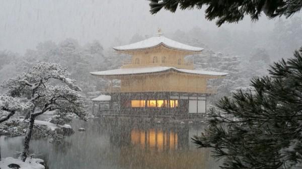 金閣寺 雪化粧 2017年1月15日