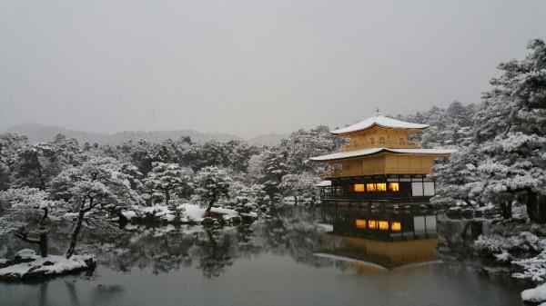 京都 金閣寺 雪化粧 2017年1月15日