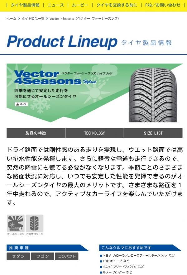 グッドイヤー新オールシーズンタイヤ「Vector 4 Seasons Hybrid(ベクター フォーシーズンズ ハイブリッド)」