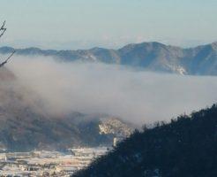 竹田城跡付近の雲海