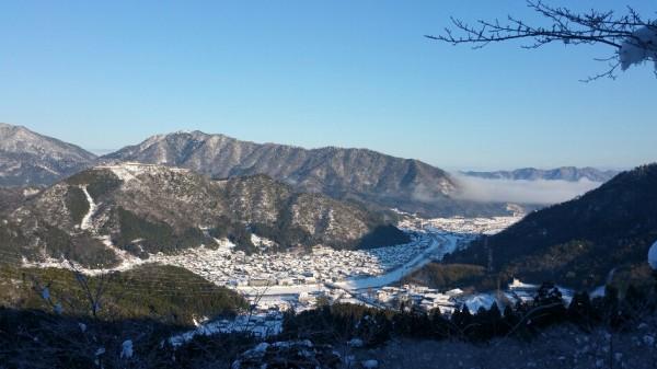 竹田城跡付近の雲海 広角
